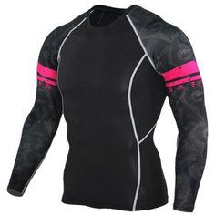 Mens Compression Shirts Jerseys Long Sleeve T Shirt Fitness Men Lycra MMA Crossfit T-Shirts Tights Brand Clothing