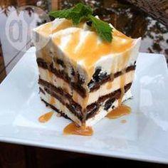 Torta helada con pionono de chocolate @ allrecipes.com.ar