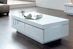 Table basse laquée blanche Hudson prix promo Declikdeco 419,00 € TTC au  lieu de 559.00 € c5e15c424023