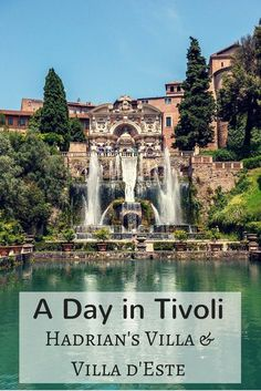 Tivoli, Italy, is home to two UNESCO World Heritage Sites -- Hadrian's Villa (an emperor's estate from the 2nd century) and some of the most spectacular gardens and fountains ever built at Villa d'Este. They're an easy day trip from Rome.: