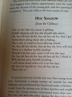 Ojibwe love song
