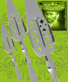Snygg absintsked materialet är rostfritt stål