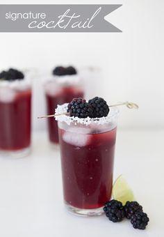 signature drink recipe | black-berrita | blackberry margarita #wedding #cocktail #recipe