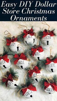 Homade Christmas Ornaments, Christmas Crafts For Gifts, Homemade Christmas Gifts, Christmas Projects, Christmas Time, Diy Christmas Name Tags, Coworker Christmas Gifts, Diy Christmas Home Decor, Chritmas Diy