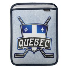 #Quebec Province Flag #Hockey Logo iPad Sleeve. Custom made by Rickshaw Bagworks. To see this design on a range of other products, please visit my store: www.zazzle.com/gamefacegear*/