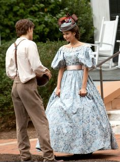 Paul Wesley as Stefan Salvatore and Nina Dobrev as Katherine Pierce in The Vampire Diaries (TV Series, 2009).