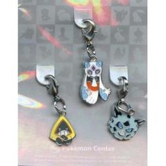 Pokemon Center 2012 Froslass Glalie Snorunt Set of 3 Charms