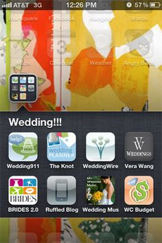 #wedding planning apps to help you plan your #bigday!