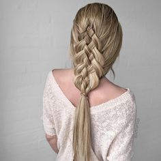 Beautiful 5 strand braid by @n.starck