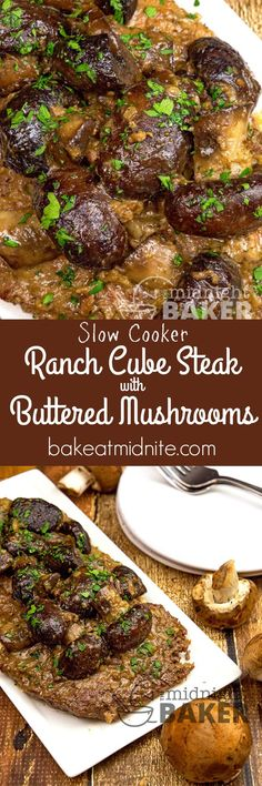 Cube steaks, mushrooms and a few simple seasonings produce this awesome dinner in your slow cooker.