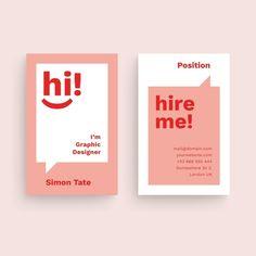 Funny graphic designer business card tem... | Free Vector #Freepik #freevector #business #abstract #card #template Professional Business Card Design, Business Design, Best Business Cards, Creative Business Cards, Visiting Card Design, Visiting Card Creative, Name Card Design, Bussiness Card, Book Design Layout