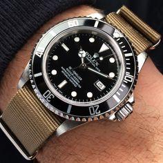 Rolex Sea Dweller on NATO strap.