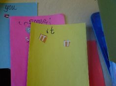 Children look through magazines and cut & paste them onto paper to practice list of sight words