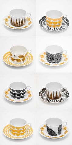 This new crockery collection from Fine Little Day for House Of Rym would go well with our op shop set very nicely. Marimekko, Porcelain Ceramics, Ceramic Pottery, Coffee Cups, Tea Cups, Kitchenware, Tableware, Teapots And Cups, Scandinavian Design