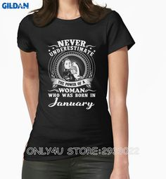 >> Click to Buy << Gildan Only4U Online T Shirts Design The Power Of A Woman Who Was Born In January Shirts #Affiliate