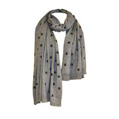 Grey starry scarf