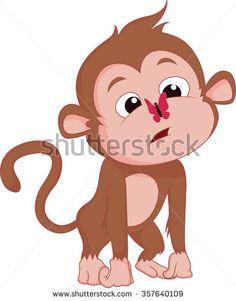 Cute Monkeys Vector Clip Art. Great For Valentine'S Day Design ...