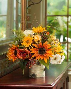 Autumn Sunrise<br>Silk Flower Centerpiece