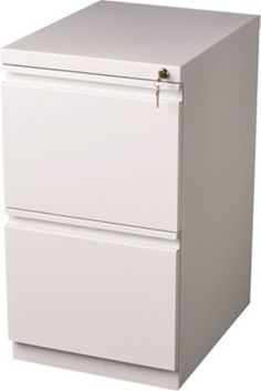 Bisley White 2- u0026 3-Drawer Locking Filing Cabinets   The office, Bookcases  and From home