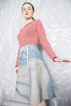 Puulavesi knit and Graffiti skirt, photo by Sofia Okkonen http://www.elinalaitinen.fi/