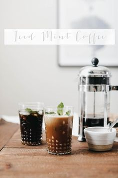 Philz Inspired Iced Mint Coffee