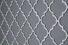 Arabesque Fleur Gray Water Jet Cut Glass Mosaic - 10in. x 13in. - 100032630 | Floor and Decor