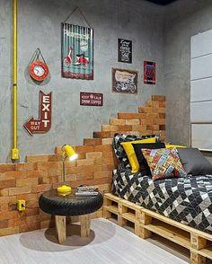 #Adolescentes vão continuar procurando a #decoraçãoindustrial para seus #quartos em 2019