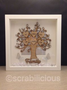 Family tree scrabble frame by Scrabiliciousframes on Etsy