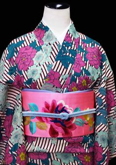 kimono sarasa - teal and plum kimono