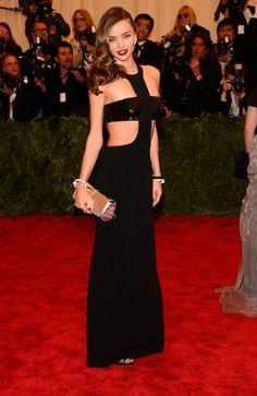 Miranda Kerr mostly skipped the punk theme (but still looks HOT) in Michael Kors at the Met Gala