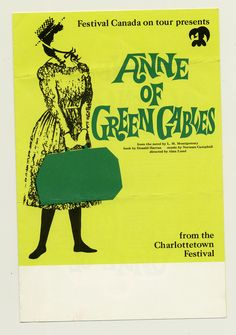 1967 brochure cover (Tour), Anne of Green Gables - The Musical™ at Confederation Centre of the Arts.