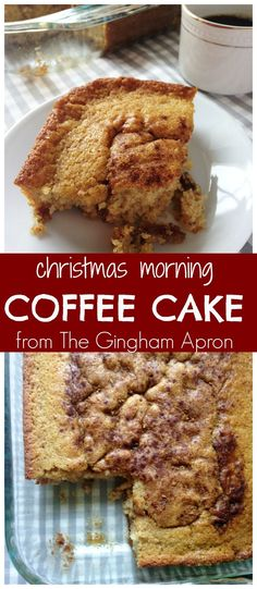 Christmas Morning Coffee Cake: Assemble this way in advance, and then just pop it in the oven on Christmas morning. Your house will smell heavenly while you enjoy unwrapping gifts with your family.