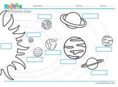 Solar System For Kids, Solar System Projects, Germany For Kids, Solar System Worksheets, Dinosaur Coloring Pages, Material Didático, Early Math, Space Party, Montessori Materials