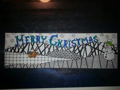 Christmas card #Zentangle Kerstkaart