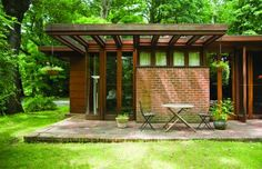 The Baird House. Amherst, Massachusetts, 1940. Frank Lloyd Wright. Usonian Style.