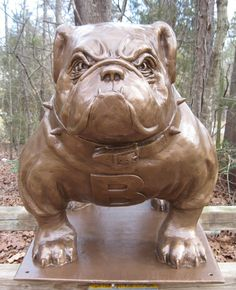 I needt his for my house  Bulldog Mascot Statue  English Bulldog Body by SnarlingCrowStudios, $1995.00