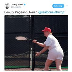 A Photo Of Donald Trump Playing Tennis Has Just Surfaced – And It's Breaking The Internet - Impeach Donald J Trump Now!