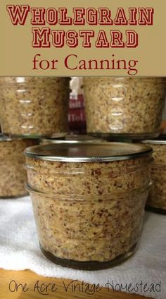 preservation wholegrain mustard recipe water bath food a Wholegrain Mustard A Water Bath Food Preservation RecipeYou can find Preserving food and more on our website Home Canning Recipes, Canning Tips, Cooking Recipes, Canning Soup, Pressure Canning Recipes, Easy Canning, Cooking Games, Cooking Classes, Canning Pickles