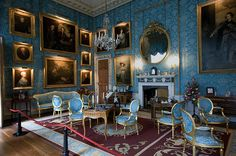 Turquoise sitting room of Castle Howard