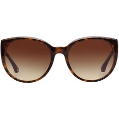 Emporio Armani Brown Round Sunglasses - ea4043 (9.965 RUB) ❤ liked on Polyvore featuring accessories, eyewear, sunglasses, round sunglasses, emporio armani eyewear, emporio armani, emporio armani glasses and round frame glasses