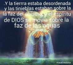 GENESIS. 1:2.  EL ESPIRITU  DE DIOS SE MOVIA SOBRE LAS AGUAS