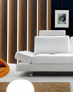 Comfort and style all in one with our Hymn modern white leather sofa! Modern White Leather Sofa, Best Leather Sofa, Leather Sectional, Sofa Price, Elderly Home, Thing 1, Couch Set, Fabric Sofa