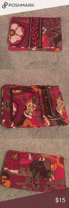 Vera Bradley wallet NWOT Very unique style Vera Bradley wallet! ID holder on back; inside change purse, zipper compartment and a key ring! NWOT Vera Bradley Bags Wallets