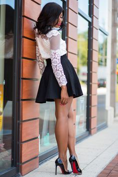 Skater SkirtChicwish skirt (c/o here, red version here, love this here & here) // Chicwish top (here, black version here) // Christian Louboutin pigalle (So Kate version here, love this here, budget...