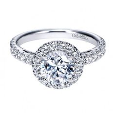 Vintage Halo Engagement Ring Setting | Emma Parker