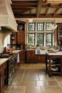 This is my dream kitchen. Such a homey feel!