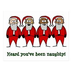 Funny Santa Naughty Christmas humor Postcard - click/tap to personalize and buy