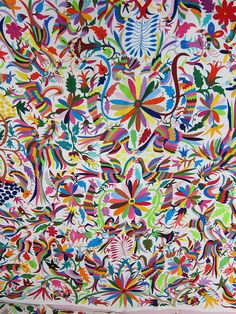Mexican patterns - Otomi fabric and textiles for home decoration by Mexico Culture, via Flickr