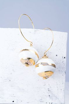 luse / náušnice zlato_ iné tvary Jewelery, Hoop Earrings, Handmade, Jewels, Hand Made, Jewlery, Jewerly, Craft, Jewelry