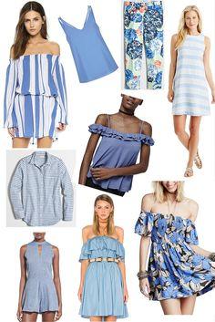 pantone serenity, the perfect shade for summer, cornflower blue, light blue, shopbop, asos, topshop, nordstrom, jmclaughlin, j crew factory